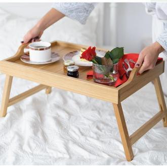 Столик  для сніданку з дубу