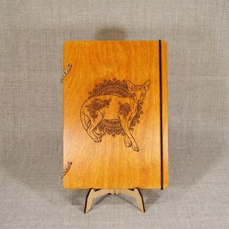 Блокнот с деревянной обложкой А5. Деревянный блокнот А5 формата. Блокнот под заказ. Подарок