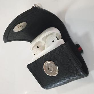 Кожаный чехол для наушников Airpods