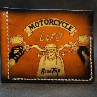 Зажим для денег, кошелек с зажимом под купюры, мотоцикл на кошельке