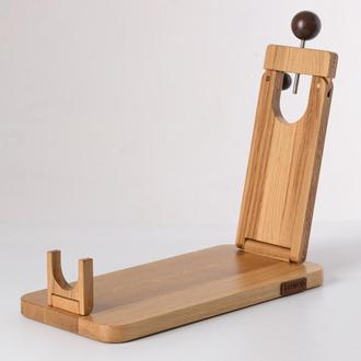 Подставка для нарезки хамона. Хамонера из дерева. Складная подставка. Деревянная доска.
