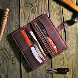 Кожаный кошелёк, портмоне, женский кошелёк, кошелёк ручной работы, отличный подарок, гаманець
