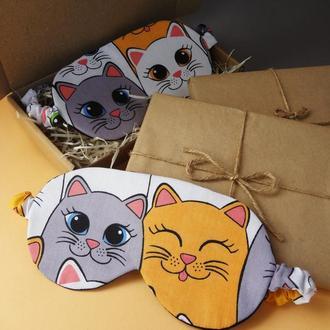 Маска для сна - коты, маска для сну - кіт, маска для сна Киев, маска для сна - котики