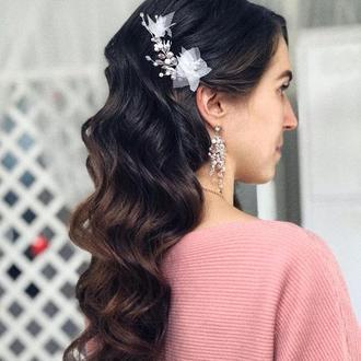 Свадебное украшение для волос, шпилька в прическу, украшение в прическу невесте