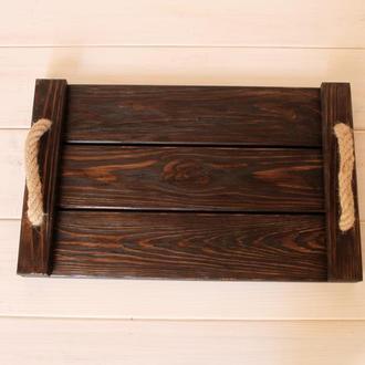 Поднос деревянный декоративный