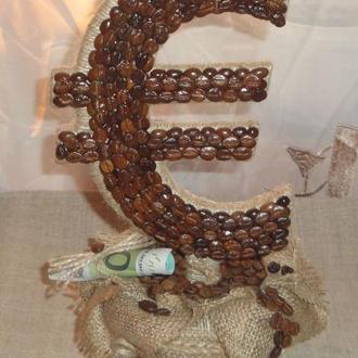 Кофейный Евро топиарий - декор интерьера