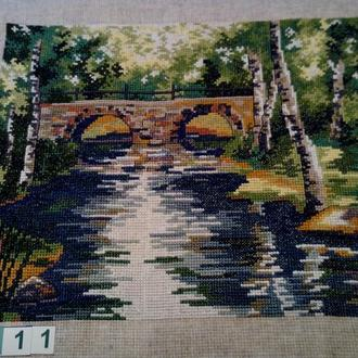Вышивка крестом. Мулине. 05-11 Лесной ручей. Работа без рамки.