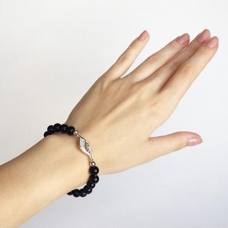 """Браслет из натуральных камней """"Звёздная ночь"""" (модель № 316) JK jewelry"""