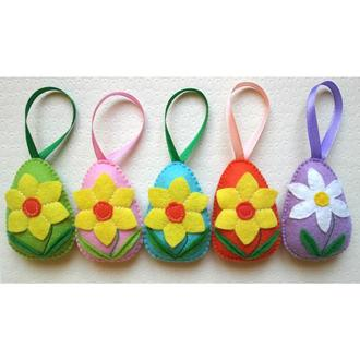 подарок на Пасху - декоративные яйца с нарциссом