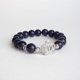 """Браслет из натуральных камней """"Королевский авантюрин"""" (модель № 317) JK jewelry"""
