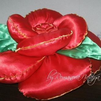 интерьерная подушка роза-ромашка