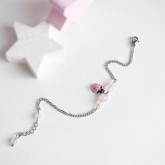 Браслет из натуральных камней для девочки (модель № 344) JK jewelry