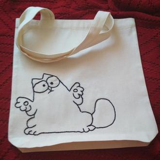 """Еко-сумка с котом """" Как же так?"""""""