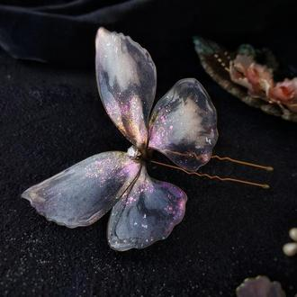 Свадебная шпилька для волос. Хрустальная бабочка