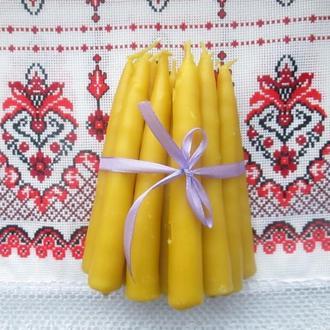натуральные свечи восковые маканые
