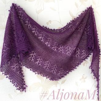 Ассиметричная шаль-шарф
