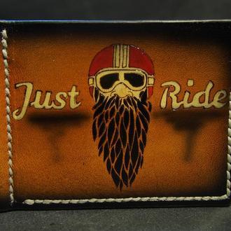 Зажим для купюр, кожаный зажим для денег, мотоциклисту в подарок