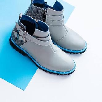 Весенние кожаные ботинки без каблука Getsby Женская обувь от Karina Balesta