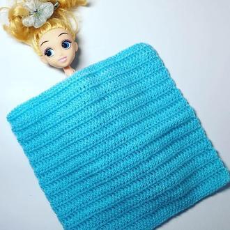Одеяло для кукла, плед для куклы, постель для куклы, для барби, кукольный дом