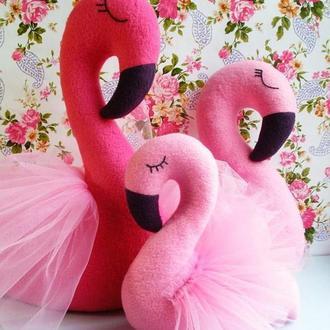 Мягкая игрушка  интерьерная розовый Фламинго