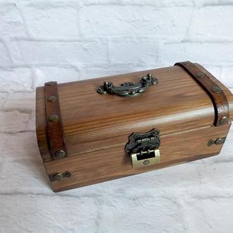 Деревянный сундук для денег шкатулка сундучок для украшений шкатулка мужская