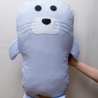 Подушка игрушка Vikamade Морской котик.