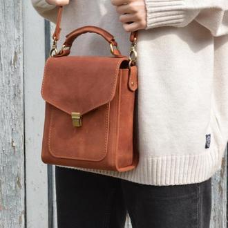 Женская кожаная сумочка через плечо. Кожаная сумка