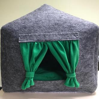 Домик лежанка со съемной подушкой
