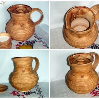 Кувшин глиняный ручной работы