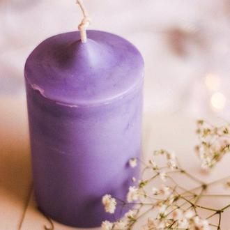 """Свічка із соєвого воску """"Лаванда"""", свеча"""