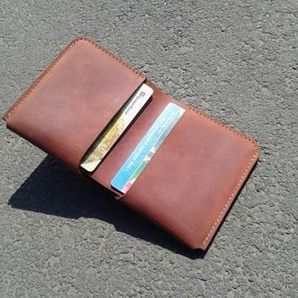 Кожаный кошелек, портмоне из кожи, бумажник натуральная кожа
