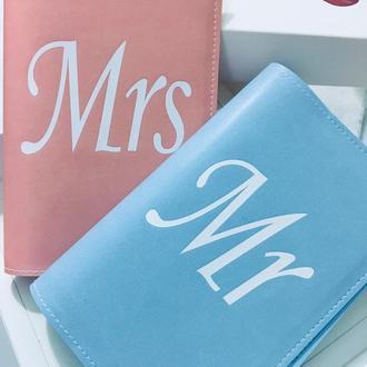 Парні обкладинки на паспорт Mr & Mrs