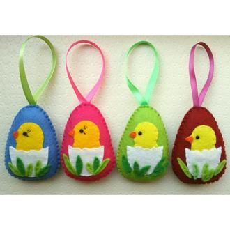 пасхальные яйца - цыплята