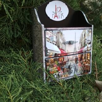 "Мини- комод для бижутерии и косметики ""По улицам Парижа"""
