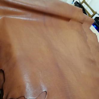 Натуральная галантерейная кожа Краст 1.4-1.6 мм. Цвет коричневый