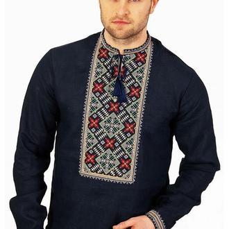 Вышиванка мужская с дизайнерской вышивкой
