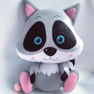 Іграшка з фетру «Єнот»