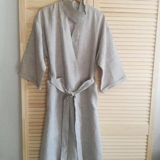 Льняной халат для дома