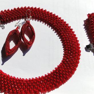 Украшение - ожерелье, браслет и серьги