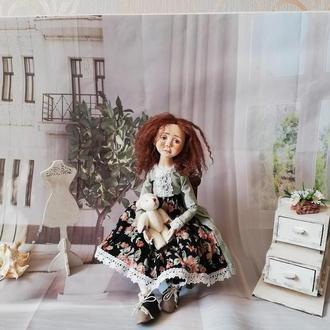 кукла Мари в смешанной технике