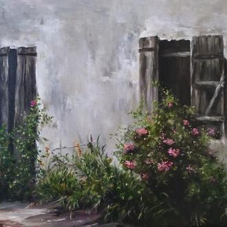 """Картина маслом """"Заброшенный дом"""" 30х40 см. холст, маслом"""