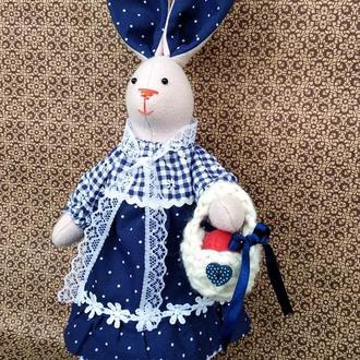 Пасхальная Зайка ( Пасхальный кролик) в стиле тильда