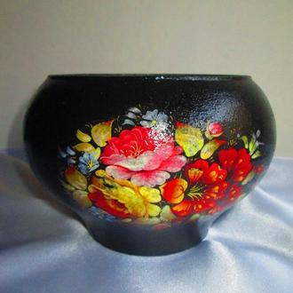 Декоративное оформление посуды, декупаж под роспись