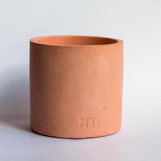 Горщик з бетону кораловий