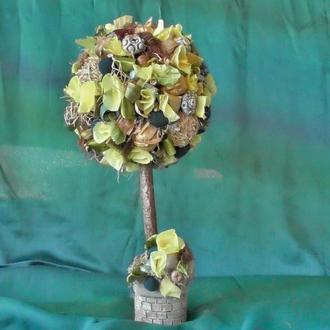 Декоративное дерево Топиарий дерево счастья подарок