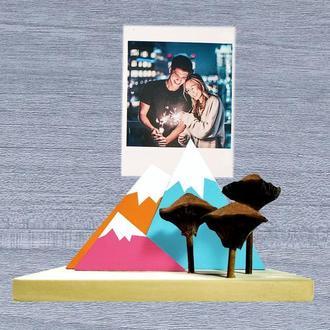 Рамка для фото. Свадебный подарок. Подарок на день рождения. Декор для дома. Держатель для фото