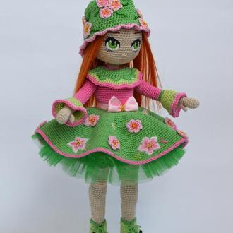 Кукла вязаная, интерьерная