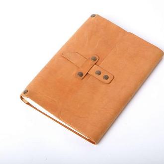 Кожаный блокнот А5 «Nota5 Foxy» (рыжий, с гравировкой, для рисования, мужской, женский)