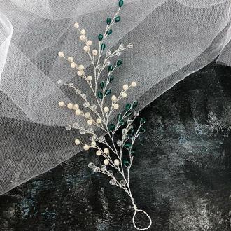 веточка в прическу свадебные украшения украшения для волос