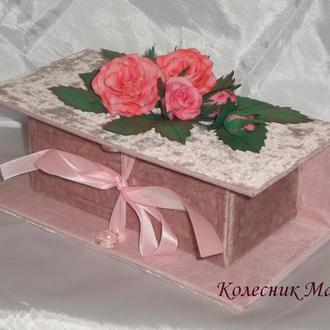 Подарочная коробочка Нежная роза